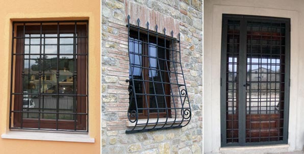 Grate e inferriate sr esserre grate di sicurezza perugia inferriate per finestre umbria - Inferriate finestre modelli ...